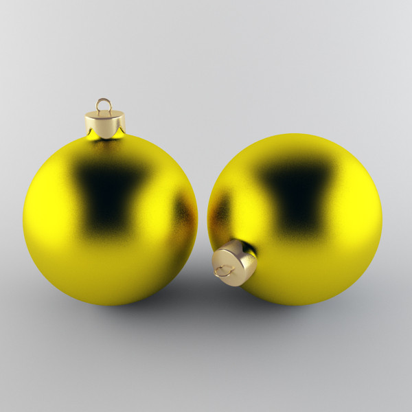 maya christmas ball - Christmas Ball Yellow... by happy3D
